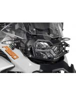 Stainless steel black headlight protector with quick release fastener for BMW F850GS Adventure *OFFROAD USE ONLY*