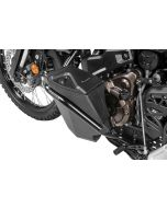 Toolbox with engine crash bar - complete - stainless steel, black for Yamaha Tenere 700