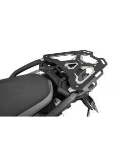 Aluminium luggage rack, black for BMW F850GS / F750GS