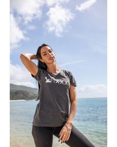 "T-Shirt ""XXX Years"" women, grey"
