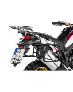Stainless steel pannier rack, black for Honda CRF1000L Africa Twin (2015-2017)